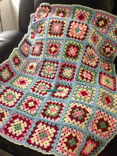 Ravelry: Project Gallery for Basic Granny Square pattern by Beverly A. Qualheim