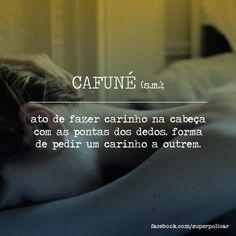 """""""tem gente que tem cheiro de cafuné sem pressa.""""  — ana jácomo, em almas perfumadas.  Via Glossário [facebook]"""