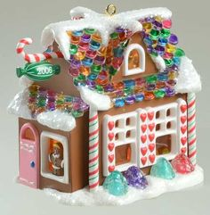 Hallmark introduced a new village of gingerbread houses with this Sweet Shop.