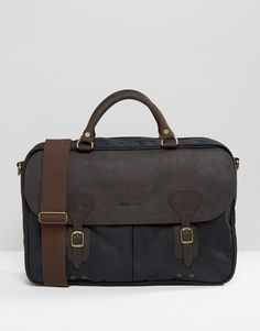 Shop Barbour Wax Briefcase In Navy at ASOS. Barbour Wax, Work Bags, Briefcase, Leather Men, Messenger Bag, Fashion Online, Asos, Satchel, Navy