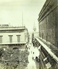 Strada Teatro Valletta Malta 1880s