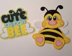 Cute as Can Bee  paper piecing for scrapbook by tootlebugdesigns