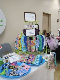 Craft show display of baby items