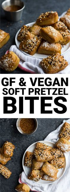 Easy Gluten Free & Vegan Soft Pretzel Bites are soft and chewy and so flavorful. The topping possibilities are endless! || fooduzzi.com recipe