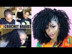 HOW TO CROCHET BRAIDS TUTORIAL | Outre 3C Whirly w/ Exposed Side Braids [Video] - Black Hair Information