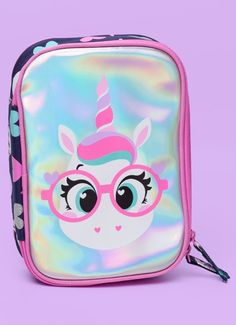 Lunch Box Backpack, Cute Pencil Pouches, Unicorn Pencil Case, Hello Kitty Bedroom, Unicorn Fashion, Stationary Items, Claire's Accessories, Unicorn And Glitter, Disney Bound Outfits