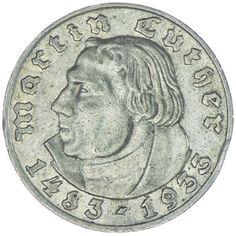 """5 Reichsmark 1933 G """"Luther"""""""