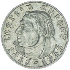 "5 Reichsmark 1933 G ""Luther"""