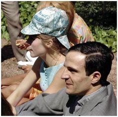 "barcarole: "" François Truffaut and Françoise Dorléac at the Cannes Film Festival. """