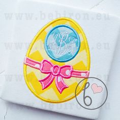 Easter Egg Applique Design with Monogram by BebironApplique