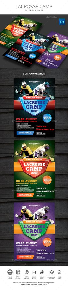 Lacrosse Flyer  -  PSD Template • Only available here! → https://graphicriver.net/item/lacrosse-flyer/17212974?ref=pxcr