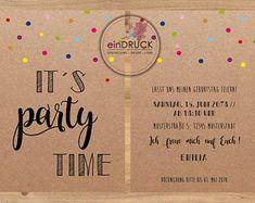 Postcard Invitation, Paper Envelopes, Birthday Invitations, Paper Shopping Bag, Slogan, Party Time, Etsy, Vintage, Invitation Cards