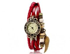 Red Leather Wing Watch
