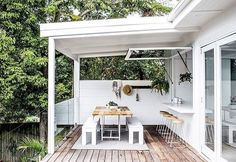 Want to create a outdoor room... Easy Peasy! Frame up a wall ( or in our case get your builder too ) and CLAD that baby!!!  it's really that simple. It doesn't even need to have under cover! We've built plenty with an open pergola or no roof at all! #checkouthouse234and5 That one wall anchors the space, screens out the neighbours, gives you privacy and genuinely feels like you have extended your inside/ outdoor living space with a brand spanking new OUTDOOR ROOM!!  Cladding @scyonwa...