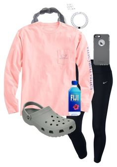 """Comfy :)"" by katie-1111 ❤ liked on Polyvore featuring NIKE, Aéropostale, Vineyard Vines, Crocs, OtterBox and Lokai"