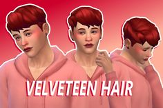 """tangerinebop: """" Velveteen Hair by TangerineBop i need to, like, not touch blender for a week so i can study lmao !!?! but this turned out so much better than the first one i'm almost mad ?! • basegame compatible • comes in all 18 basegame swatches •..."""