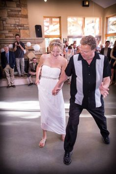 """Dad and I danced to """"The Time of My Life""""... wouldn't have had it any other way :)"""