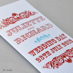 Wedding Stationery CARNIVAL - possible for cookie sleeve