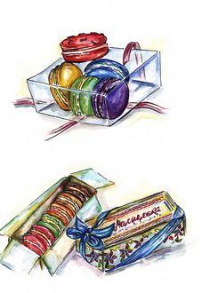 Macaroons illustration   Doll Memories