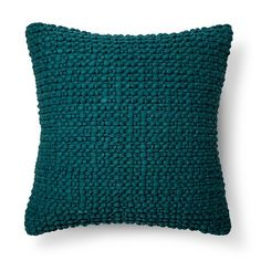 Throw Pillow Teal Textured Blue - Threshold™ : Target