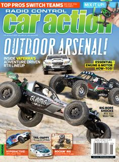 May 2013 issue, featuring the Vaterra Glamis Uno, Twin Hammers, and Kemora