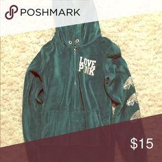 Velour Hoodie Eagles Velour Hoodie Eagles PINK Victoria's Secret Tops Sweatshirts & Hoodies