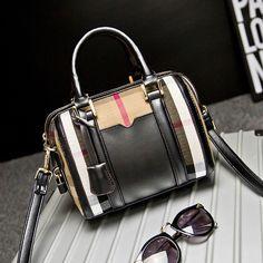 England Genuine Leather Plaid Design Handbags