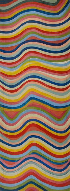 Marta Minujin. Laberinto Minujinda series, 1985. Acrylic on canvas.