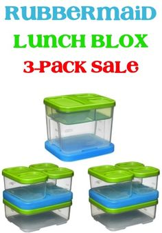 Rubbermaid Lunch Blox on Sale: 3-pack for $15.99!  Pack those back to school lunches in style with this sweet deal!