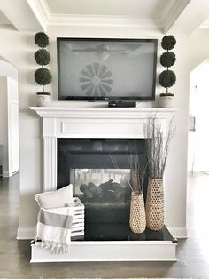 5 Ways To Get The Simple Farmhouse Look - Bless This Nest Fireplace Decor