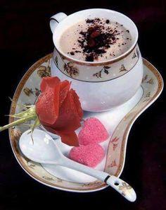 cappuccino and heart sugars