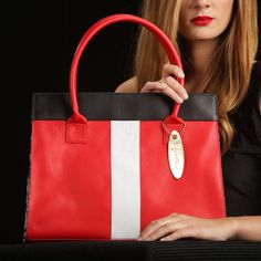 Kate Tote in London Red on TROVEA.COM