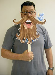 ART BACKWASH: Twitter Beard make all kinds of printable masks