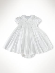 a darling smocked ralph lauren dress for your baby girl.