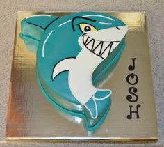 Jawsome Shark Cake....for my favorite little man aiden!