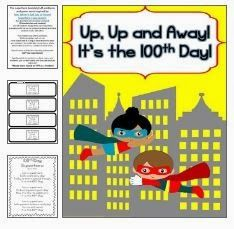 Get Ready for a Super Hero Themed 100th Day of School Right Here with freebies}!