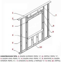 Cómo se construye un panel steel frame Metal Stud Framing, Steel Framing, Steel Building Homes, Building A New Home, Steel Frame House, Steel House, Steel Frame Construction, New Home Construction, Casas Containers