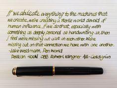 Handwritten Post. Connecting Via Writing