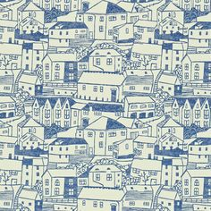 A Cottage In St. Ives: St. Ives wallpaper by Sanderson. Designer - Fiona Howard