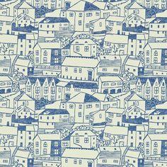 A Cottage In St. Ives: St. Ives wallpaper by Sanderson. Designer - Fiona Howard