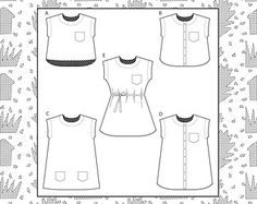 Maya dress and top sewing pattern by MarillaWalker on Etsy