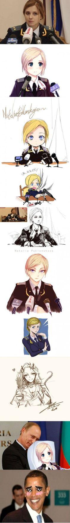 Natalia Poklonskaya, japan edition