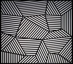 SFMOMA | Sol LeWitt | Wall Drawing #565: On three walls, continuous forms with alternating...