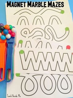 Magnetic Marble Mazes- printable mazes. Great magnet science and STEM activity for kids! Preschoolers & elementary kids will love this, too!