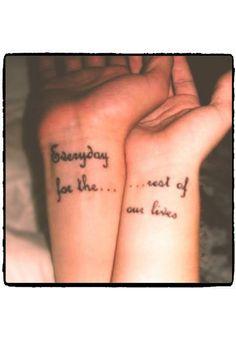 Perfect match : tatuagens para irmãs <3