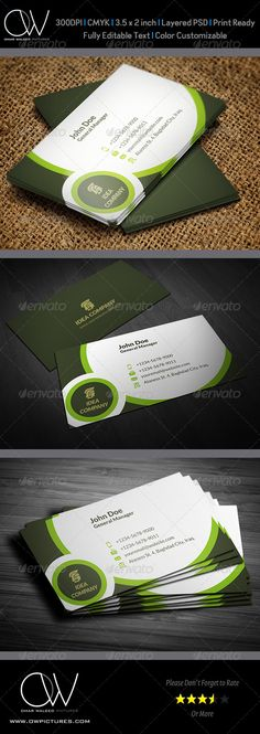 Corporate Business Card Template Vol.34