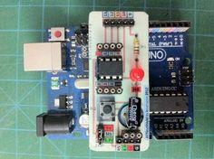 Arduino ATtiny85 Programmer Shield on PCB [ATtinyShield]