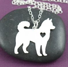 """Love Akitas? Then this necklace is perfect for you!Normally $39.99, only $14.99 with Free Shipping in the US.The chain is 20"""" in length, and the pendant is 1"""" b"""