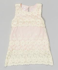 Loving this Blossom Couture Pink Floral Lace Overlay Dress - Infant, Toddler & Girls on #zulily! #zulilyfinds