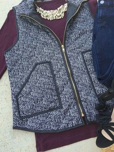 This is the hottest vest of the season - a must have for all fall wardrobes! This is a high quality, well made vest that has added padding for style and comfort. It's a must have for the fall season.